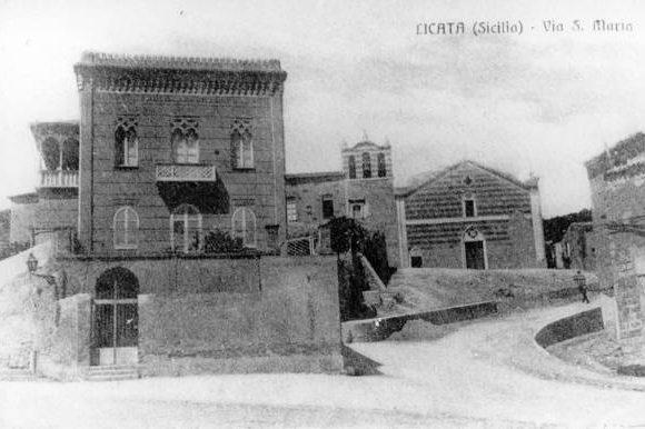 Foto antica di Via Santa Maria a Licata