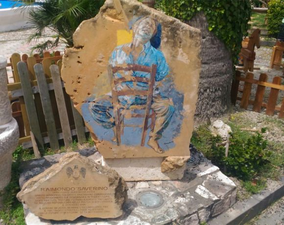 Lapide commemorativa al partigiano licatese Raimondo Saverino