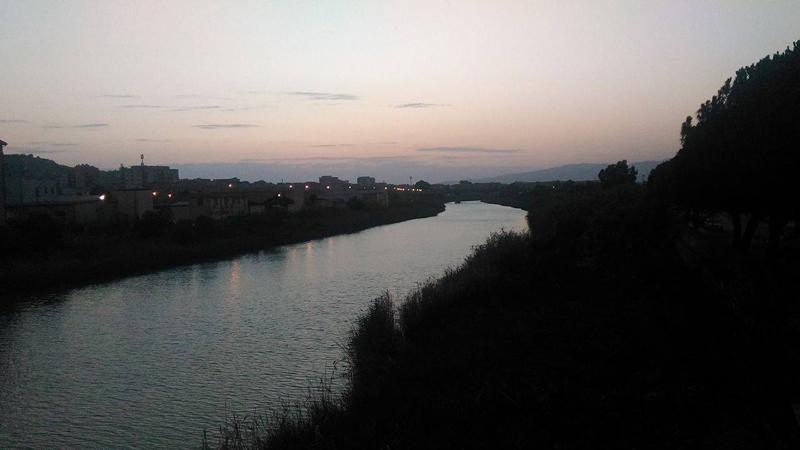Foto del fiume Salso a Licata